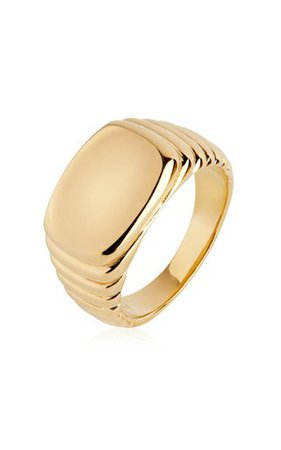 Twisted Spin Gold-Plated Ring by Isabel Lennse | Moda Operandi