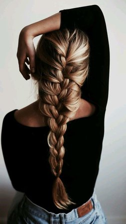 Blonde French Braid