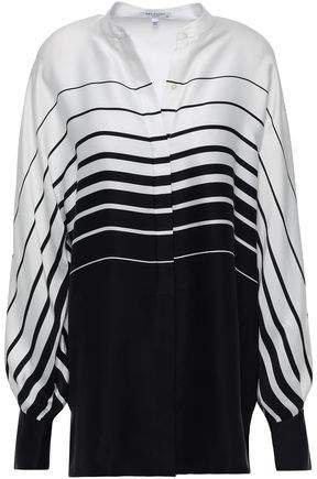 Sedaine Oversized Striped Silk-blend Satin Shirt