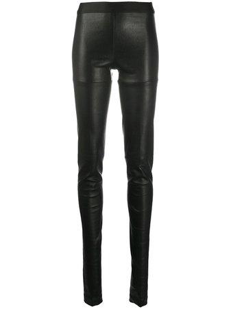 Ann Demeulemeester high-waisted Leather Leggings - Farfetch