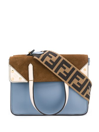 Small Fendi Flip Crossbody Bag 8BT306A6CG Blue | Farfetch