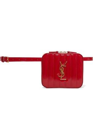 Saint Laurent | Vicky quilted patent-leather belt bag | NET-A-PORTER.COM