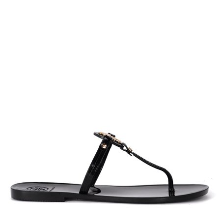 Tory Burch Mini Miller Jelly Black Rubber Sandal