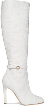 by Roy Luwolt - Roksanda Rhonda Croc-effect Leather Knee Boots - White