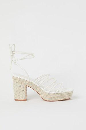 Platform Sandals - White - Ladies | H&M US