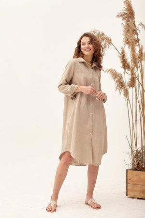 Linen shirt dress simple linen dress buttoned shirts linen | Etsy