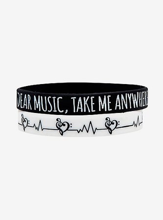 Music Rubber Bracelet Set