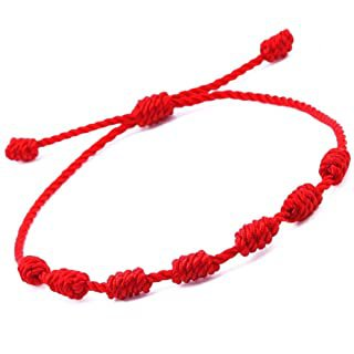 Amazon.com: Lucky Charms USA Red String Knotted Bracelet with Cross: Jewelry