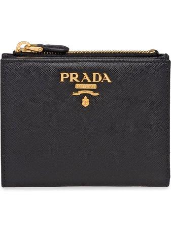 Prada logo-plaque Compact Wallet - Farfetch