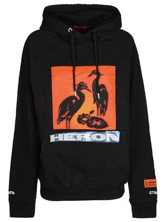 HERON PRESTON Logo Printed Hoodie