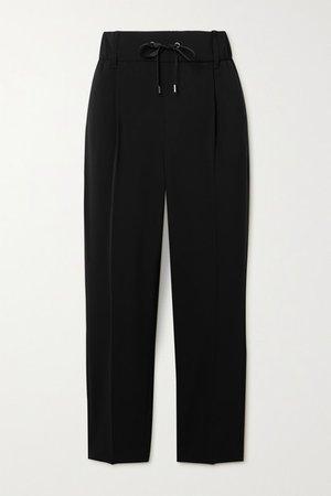 Twill Track Pants - Black