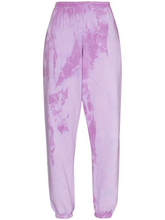 Come Back As A Flower tie-dye Tapered Track Pants - Farfetch