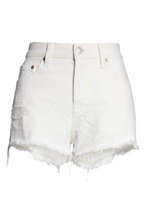 Levi's® 501® Cutoff Denim Shorts (Pearly White) | Nordstrom