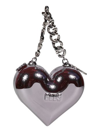 GCDS Heart Chain Strap Shoulder Bag