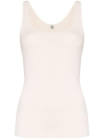 Shop white Totême Urda tank top with Express Delivery - Farfetch