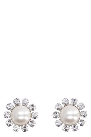 Alessandra Rich Faba Embellished Maxi-earrings