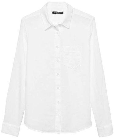 Quinn Straight-Fit Linen-Cotton Shirt