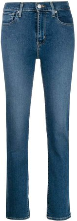 high-rise denim jeans