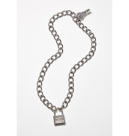 Locked Down Chain Necklace | Dolls Kill