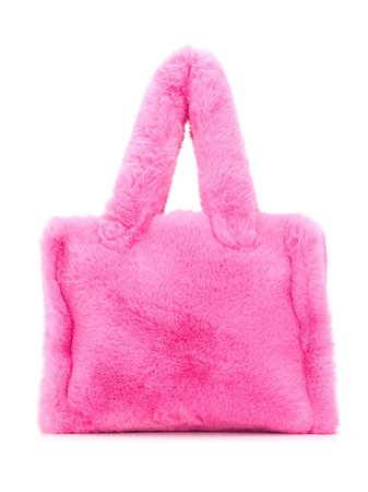 Pink STAND STUDIO faux-shearling tote bag 611969020 - Farfetch