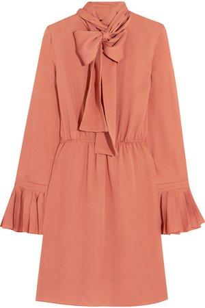 Gucci | pussy-bow silk-georgette dress