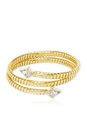 Twinkle Enameled 18k Yellow Gold Morganite, Diamond Wrap Bracelet By Emily P. Wheeler | Moda Operandi