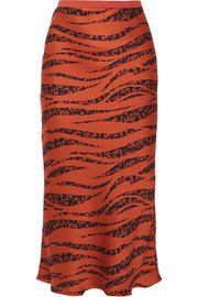 Anine Bing   Bar silk-satin midi skirt   NET-A-PORTER.COM
