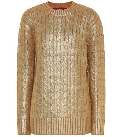 Metallic wool sweater