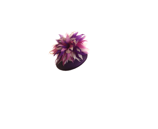 Aoife Harrison Design | Feather Flower Beret | Purple and Berets | LOVEHATS.COM