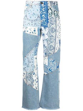 Etro patchwork jeans blue 144519459 - Farfetch