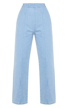 Light Wash Wide Leg Jeans | Denim | PrettyLittleThing