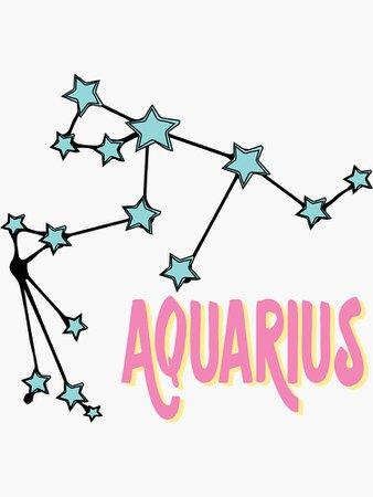 """AQUARIUS"" Sticker by Smh12345 | Redbubble"