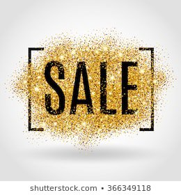 Gold Sale Background Frame Yellow Confetti Stock Vector (Royalty Free) 348973931