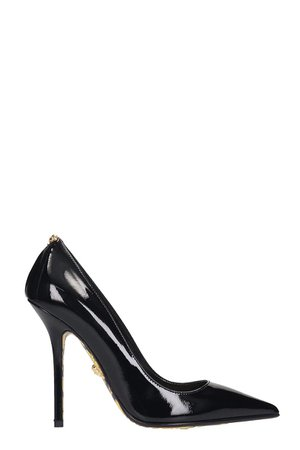Versace Pumps In Black Patent Leather