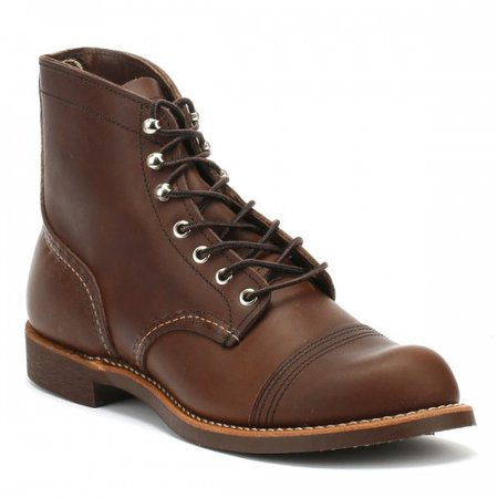 Red Wing Shoes Iron Ranger Brown Amber Mens Boots • Amber Harness leather 8111 SOSLJRG