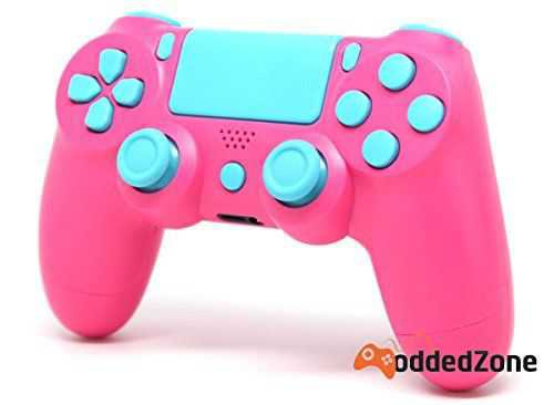 PS4 Controller in Pink and Blue