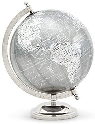 Abbott Collection Home 57-LATITUDE-12 Abbott Collection Globe on Stand Gry/Silver: Amazon.ca: Home & Kitchen