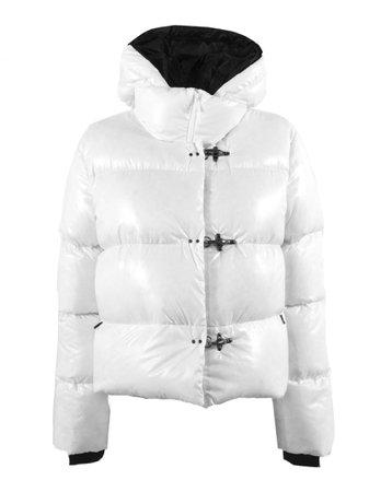 Fay 3 Hooks White Down Jacket