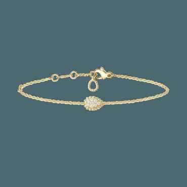 Boucheron, SERPENT BOHÈME BRACELET XS MOTIF Bracelet set in yellow gold with diamonds