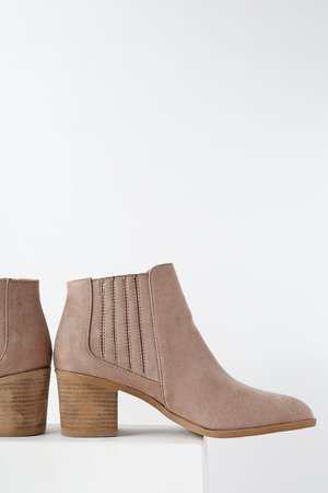 Chic Taupe Booties