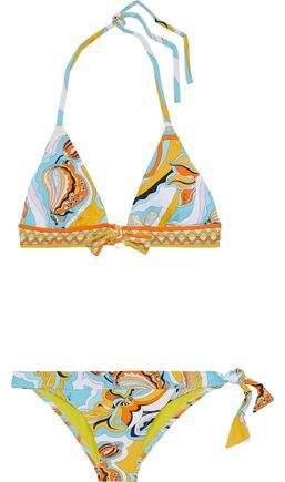 Knotted Printed Triangle Bikini