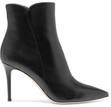 Levy 85 Leather Ankle Boots - Black