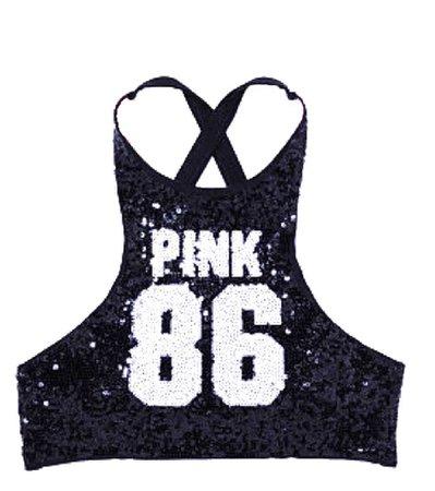 PINK 86 Sequin Bikini Top
