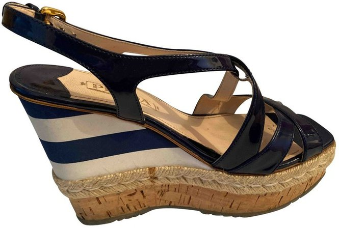 Blue Leather Sandals