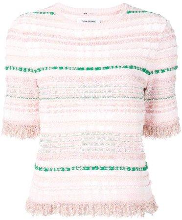 Light Pink Knit Tweed Tee