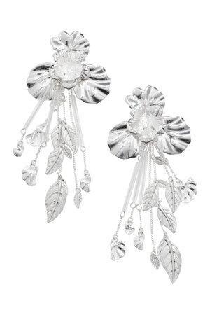 Long earrings - Silver-coloured - Ladies | H&M