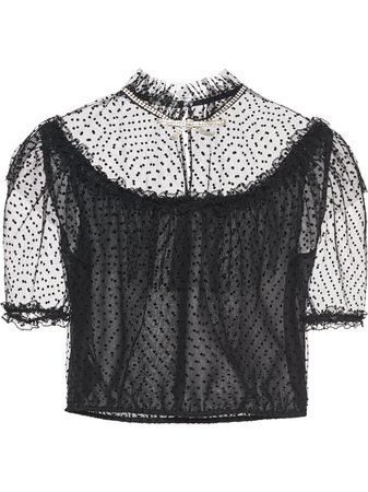 Miu Miu | embroidered tulle blouse