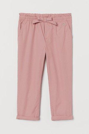 Cotton Pull-on Pants - Light pink - Kids   H&M US