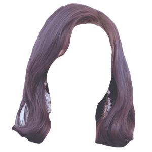 Short Black Purple Hair