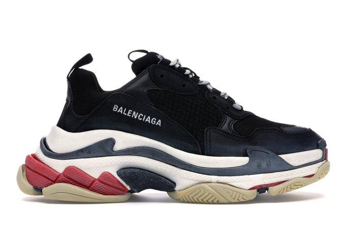 Balenciaga Triple S Black White Red (2018 Reissue) - Sneakers